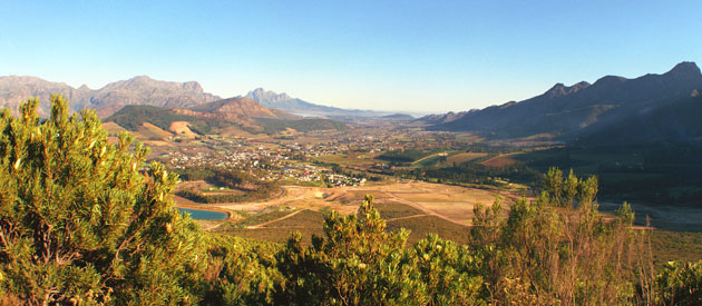 Franschhoek, in the Cape Winelands region of the Western Cape, South Africa