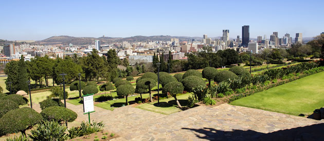 The city of Pretoria is located in the northern part of Gauteng, South Africa